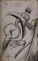 Vulture King Creepy Dark Scary Horror Original Art Artwork Poster Print 11x17