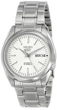 Seiko 5 SNKL41 Automatic 21 Jewels White Dial Stainless Steel Men Watch SNKL41K1