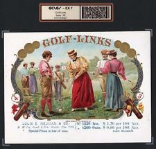 Antique Golf c1898  - Golf Links - SUPERB ORIGINAL EX RARE Cigar Box Label #6427