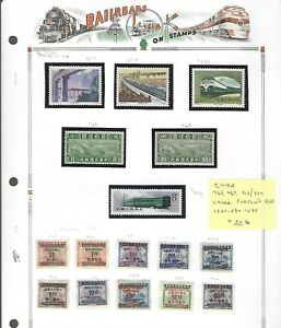 RAILROADS (A)...China...#465//924...Peoples Rep ...#1527//1595..Mint..SCV $20.60