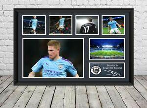 Kevin De Bruyne Signed Photo Manchester City Poster Football Memorabilia