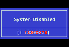 HP System Disable password reset service, 8-digit starting with ( i ). Fast!!!