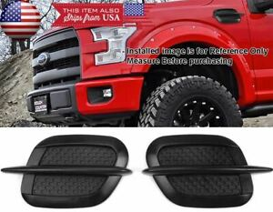 """Black 8.5"""" x 5"""" Side Fender Air Vent Intake Scoop Bonnet Grill Grille For Chevy"""