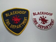 Embroidered Fabric Patch Lot BLACKHOOF FIRE DEPARTMENT