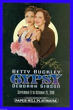 Playbill + Gypsy + Autographed + Betty Buckley, Deborah Gibson, Laura Bell Bundy
