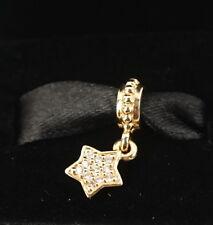 NEW Authentic Pandora 14K Diamond Star Pave Dangle Charm 750808D