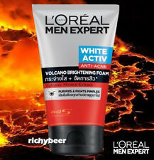 1 x 100 ml. L'Oreal Men Volcano Red Foam White Activ Anti Acne Volcanic Brighten