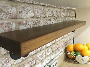 Chunky Wooden Shelf,industrial Iron Steam Punk,handmade,rustic,loft Style Shelf