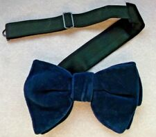 c97ce77ff8e2 Bow Tie Vintage Velvet Mens Bowtie 1960s 1970s DANDY CRUISER DARK NAVY BLUE