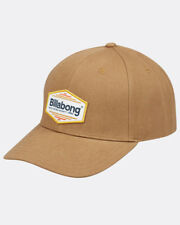 BILLABONG MENS BASEBALL CAP.WALLED SNAPBACK BROWN COTTON CURVED PEAK HAT 8W 1 13