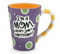 I'm A Mom, What's Your SuperPower, 12oz Coffee Mug Great Gift for Mother