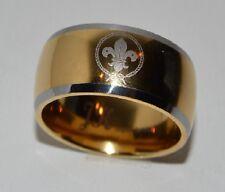 Ring Pfadfinder Tungsten Carbide 24 k vergoldet 21mm Pathfinder size 11,5