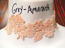 SAKURA CHOKER peach lace cherry blossom flowers pastel necklace ribbon floral 6V