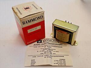 HAMMOND 119Y30 AUDIO AUTOTRANSFORMER LINE MATCHING 30W, LINE OUTPUT 25/70V, NEW