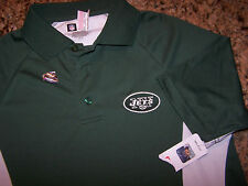 NFL TEAM APPAREL - NEW YORK JETS POLY POLO SHIRT - S - OUTSTANDING - CHEAP