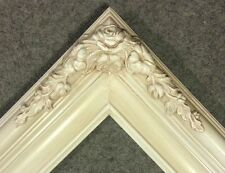 "3.25"" Cream White Wash Ornate Classic Picture Frame Wedding B6WW gallery 16x20"