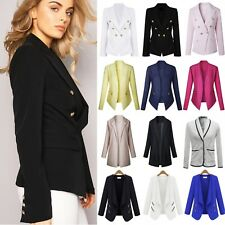 Women Ladies Slim Fit Label Blazer Jacket OL Work Office Suit Coat Cardigan Tops