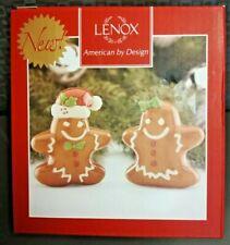 Lenox Gingerbread Male & Female Salt And Pepper Shaker Christmas Themed Nib