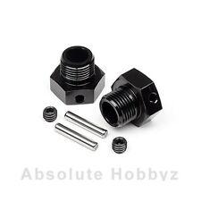 Hot Bodies 6.7mm Offset 17mm Hex Wheel Hub (Black) (2) - HBS67804