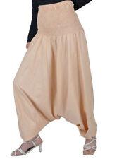 Pantaloni da donna in cotone beige taglia 44