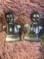 Vintage Abraham Lincoln Vintage Metal Bookends