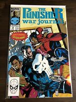The Punisher War Journal #14 Feat. Spider-Man Marvel Comics Jan 1990 Jim Lee VF