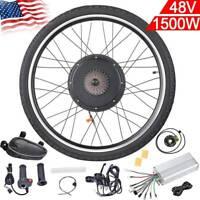 "48V 1500W 26"" Rear Wheel Electric Bicycle Motor Kit Conversion EBike Cycling Hub"