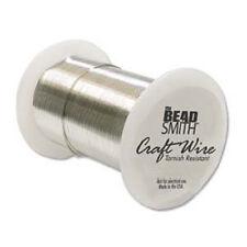 Beadsmith 22 Gauge 22GA Wire - 20Yd/18M, Non-Tarnish BRIGHT SILVER