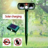 Solar Power Ultrasonic Pest Animal Repeller Garden Pet Control Dog Scarer Y3P9