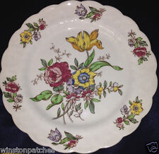 "BOOTHS CHINA ENGLAND PLYMOUTH A8007 BREAD & BUTTER PLATE 7 1/2"" FLOWERS"