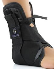 Ankle Compression Sleeve/Brace--Medium, Black-Full Support