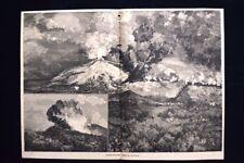 Eruzioni dell'Etna Incisione del 1885