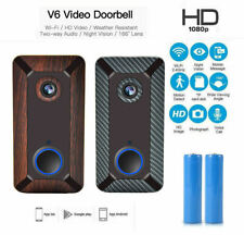 Wireless WiFi Doorbell Smart Door Bell Security Video Camera 1080P HD Remote App
