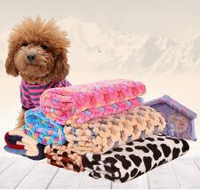 Latest Pet Mat Pad Small Large Pet Cat Dog Puppy Fleece Soft Blanket Bed Cushion