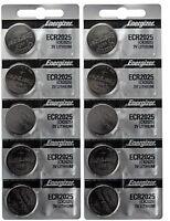 10 x FRESH Genuine Energizer CR2025 ECR2025 3V Coin Button Battery Fast Shipping