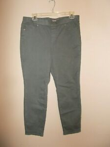 Lands End Womens Size 18W Dusty Green Pull On Skinny Jean Jegging Semi High Rise