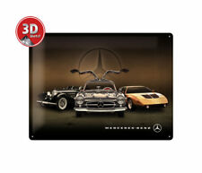 23252 Placa metálica 30x40 mercedes-benz-3 cars nostalgic art coolvintage