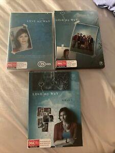 LOVE MY WAY SEASON 1 2 3 dvd set REGION 4 australian drama COMPLETE SERIES