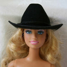** 2 Black Cowboy Hats - Barbie and Ken Cowboy / Cowgirl