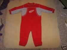 NHL Detroit Red Wings Kids Coveralls Outfit Sz 24M GUC