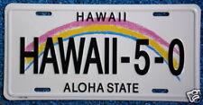 """Hawaiian """"HAWAII-5-0"""" Novelty License Plate from Hawaii"""