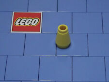 Lego 4589b 1x1 Yellow Cone With Top Groove X 4 NEW