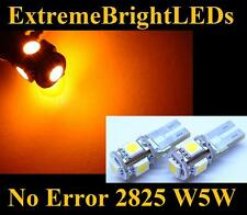 TWO Orange AMBER 15-SMD Canbus Error Free LED Parking Lights #87B