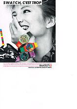 PUBLICITE ADVERTISING  1985   SWATCH    la montre Suisse