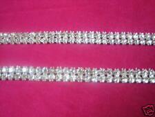 8 Yards Crystal Rhinestone Banding Trim Silver~2 Row