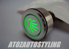 Savage Push Button LIGHTS Switch Latching GREEN <<NEW>>