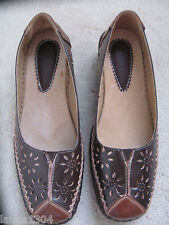True Form Real Leather Brown Flat Loafer shoes (NEW) UK size 8-£24.00