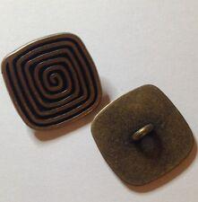 2 X 25mm Metal Square Shank Buttons - Australian Supplier