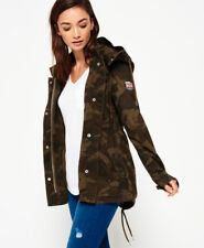 New Womens Superdry Rookie Festival Parka Jacket Alpine Camo