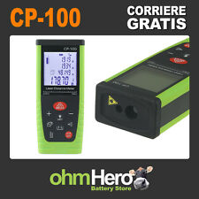 METRO LASER MISURATORE 100 METRI DIGITALE DISTANZIOMETRO CP-100 VERDE 100M